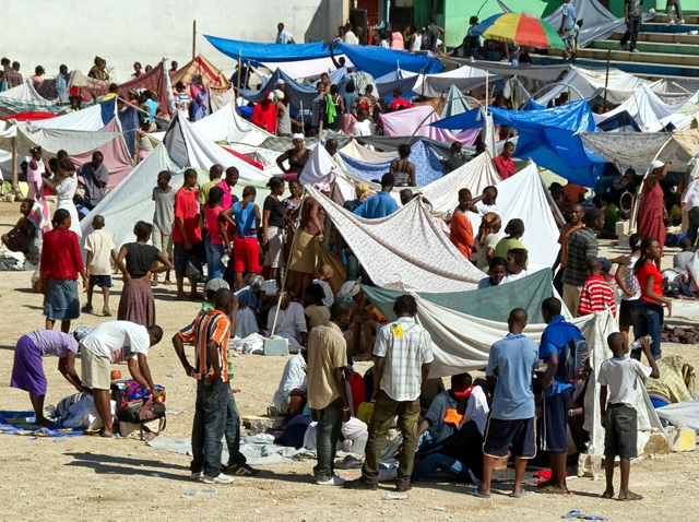 011410 Haiti Survivors Tents 2
