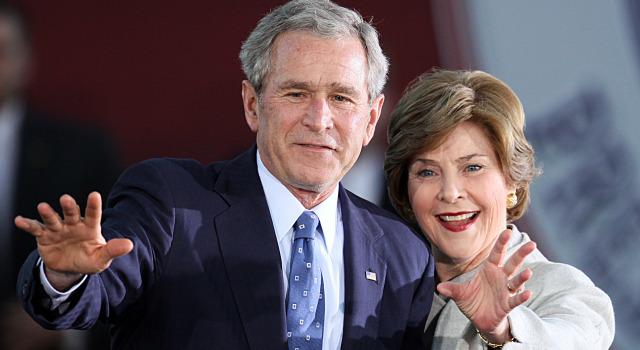 031809 George and Laura Bush p1