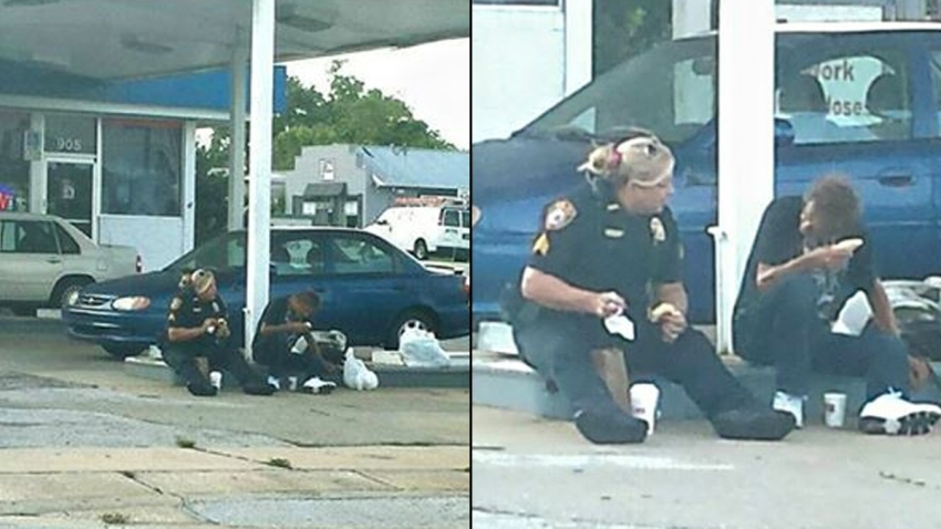 072715 erica hay ocala police homeless meal
