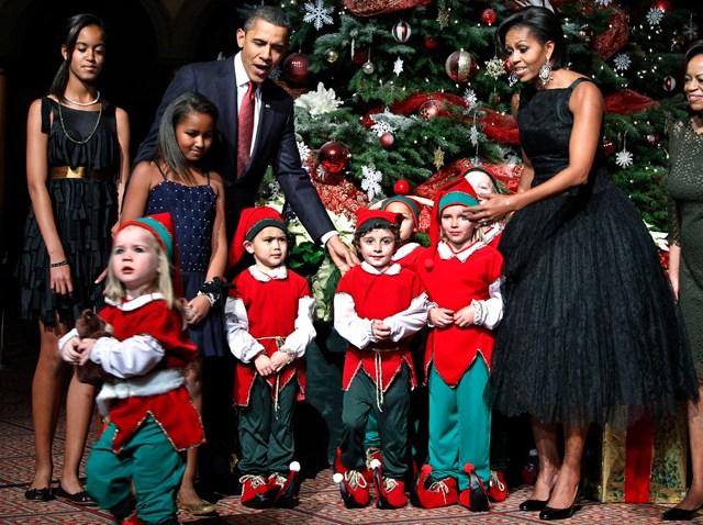 Obama Christmas In Washington