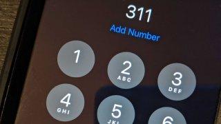 An iphone calling 311