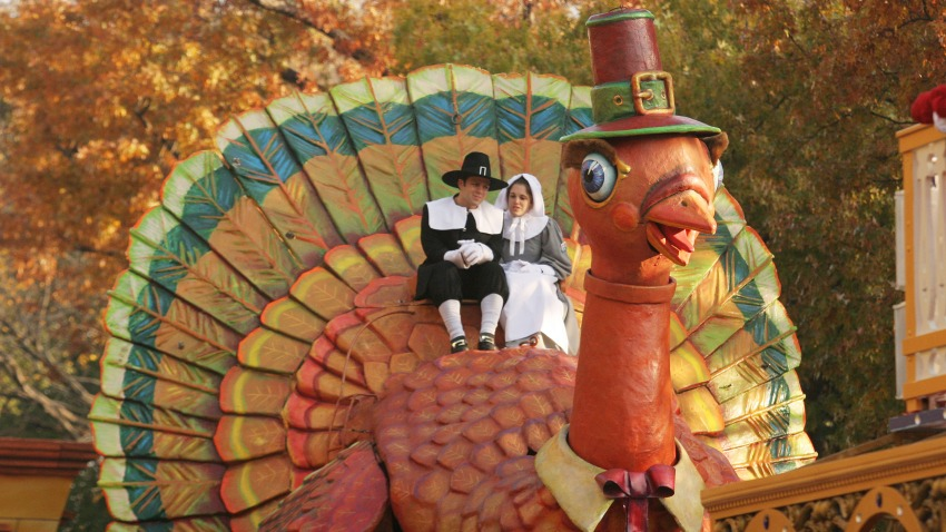 The Thanksgiving Turkey makes its way during the 81st annual Macy's Thanksgiving Day Parade on November 22, 2007, in New York City.