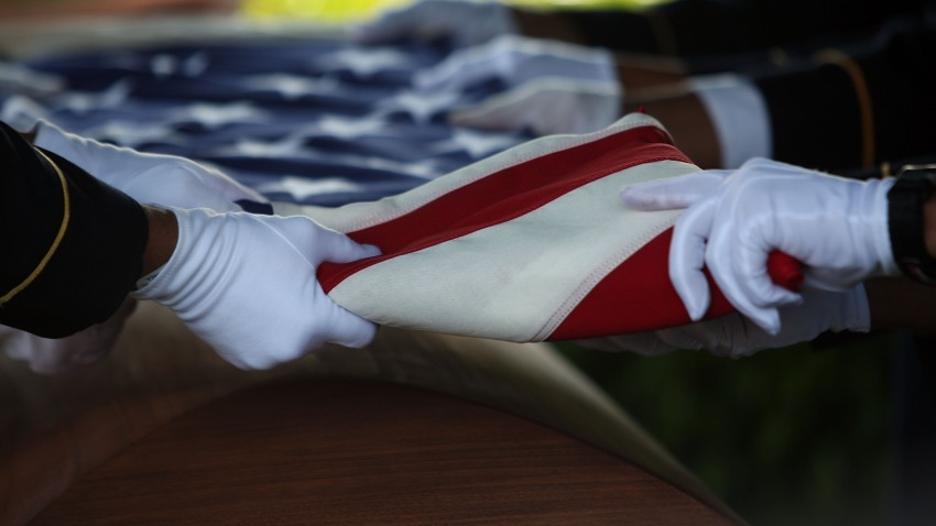 soldier death generic flag casket
