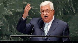 Palestinian President Mahmoud Abbas addresses the 73rd session of the United Nations General Assembly