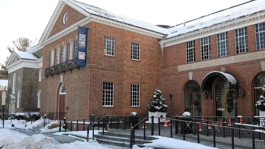 Exterior view of the main entrance to the National Baseball Hall of Fame and Museum Friday, Feb.1, 2019, in Cooperstown, N.Y.