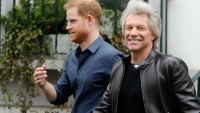 Prince Harry and Bon Jovi Work on Charity Single in London