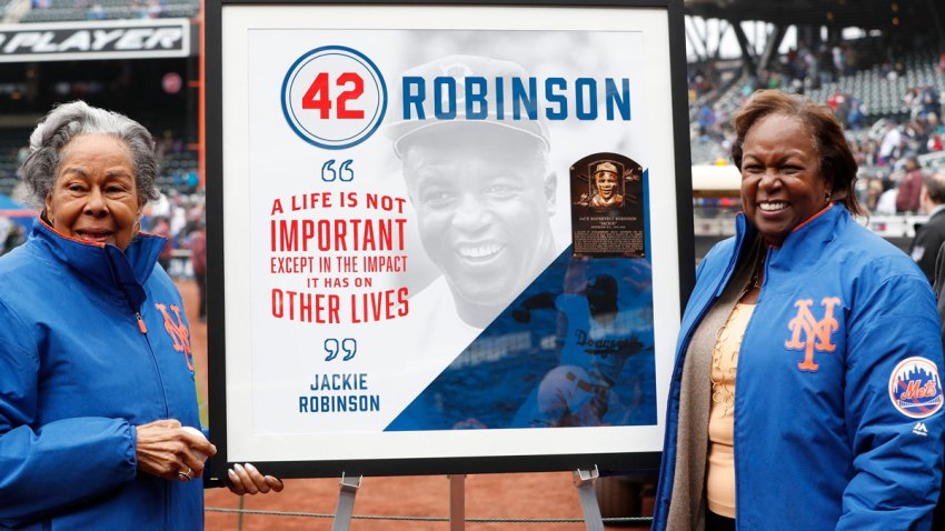 Forced from the field by the new coronavirus, Major League Baseball is moving its annual celebration of Jackie Robinson online, Wednesday, April 14, 2020.