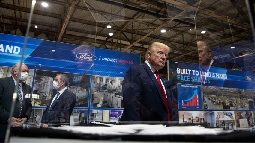 President Trump visits a Ford factory in Michigan