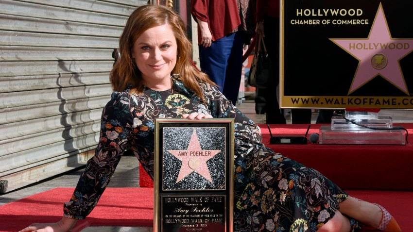APTOPIX Amy Poehler Honored With a Star on the Hollywood Walk of