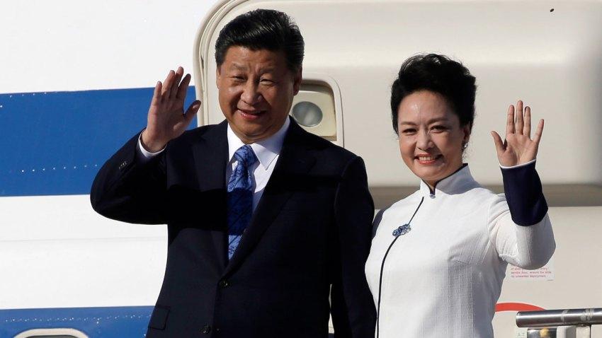 APTOPIX Chinese President US Visit