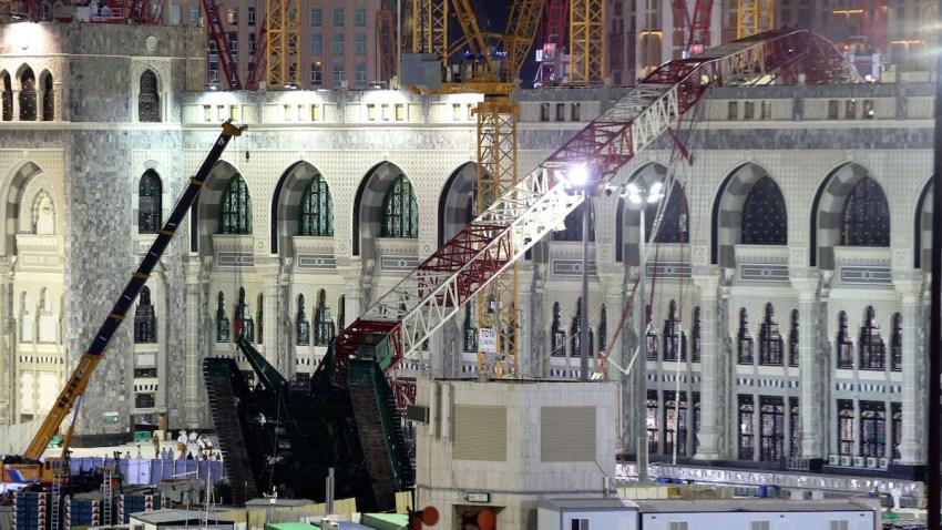 Mideast Saudi Crane Collapse