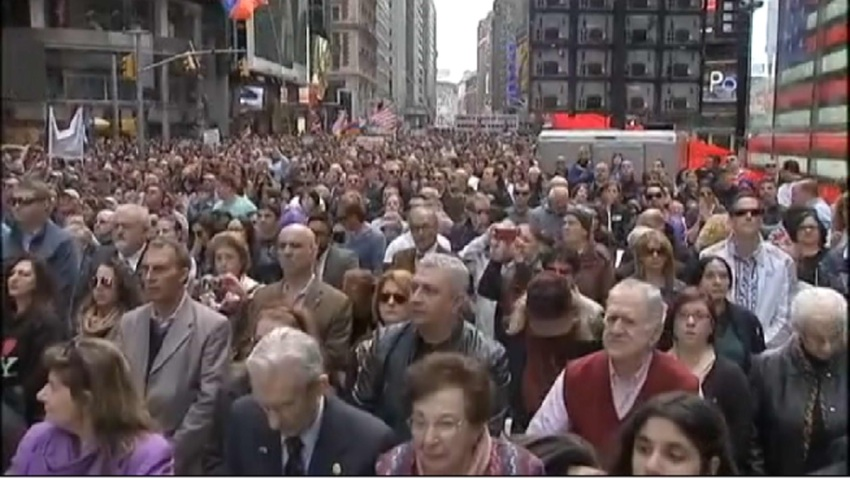 Armenia protests times square