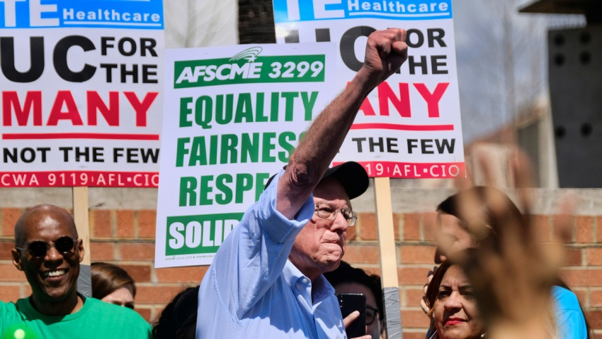 California University Strike Election 2020 Bernie Sanders