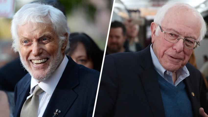 (left) Dick Van Dyke and Bernie Sanders (right)