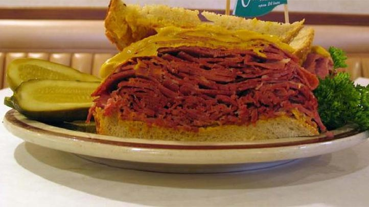 Canter's corned beef sandwich