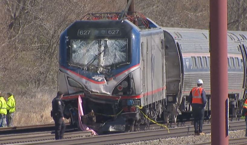 Chester Amtrak Crash Smashed Windshield