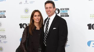 "In this Nov. 6, 2013, file photo, Cristina Greeven and Chris Cuomo attend the 7th annual ""Stand Up for Heroes"" benefit at The Theatre at Madison Square Garden in New York City."