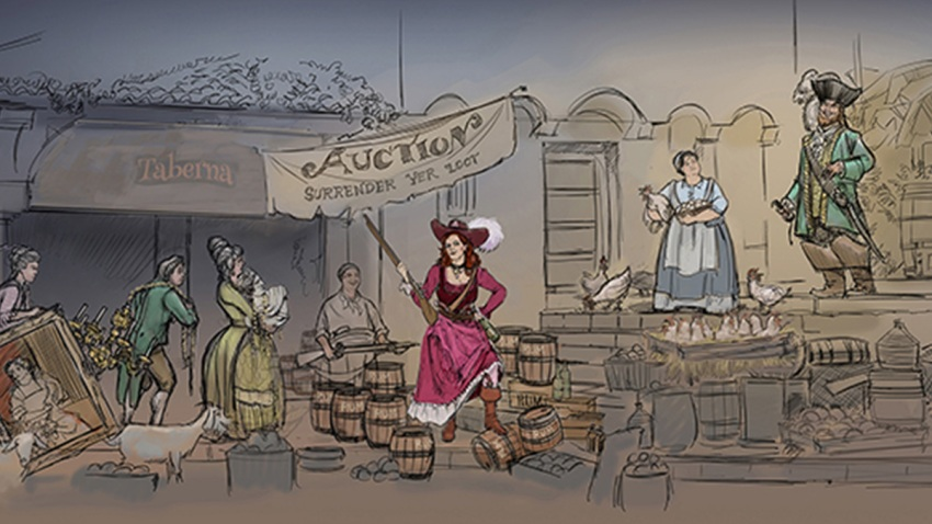 Disney New Pirates Ride Rendering