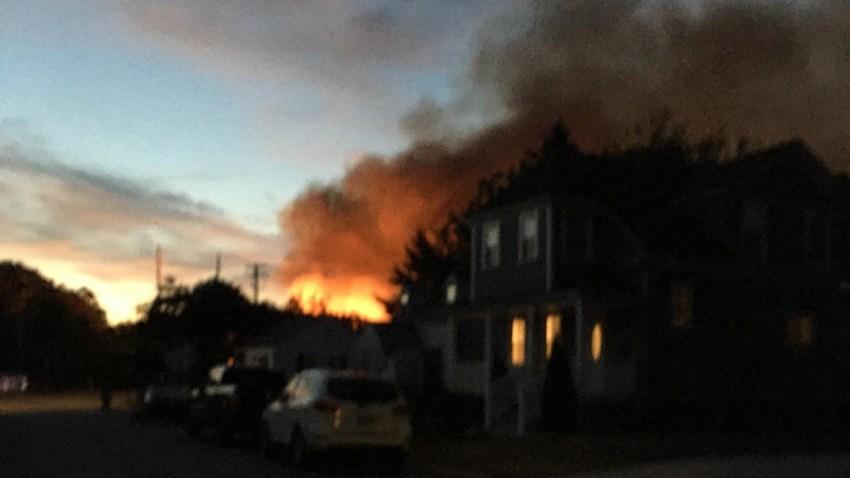 Fire on Chestnut Street in Fairfield