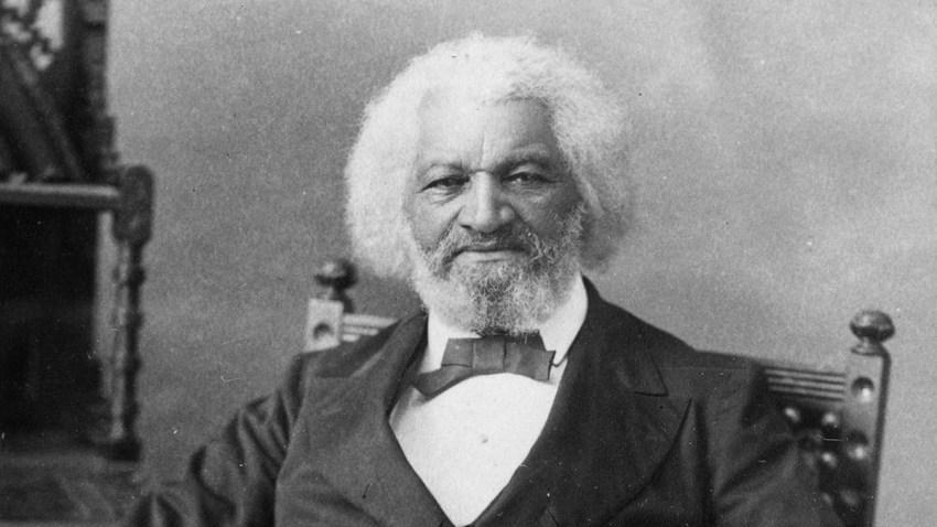 Circa 1880: American orator, abolitionist, writer and escaped slave, Frederick Douglass (1817 - 1895).