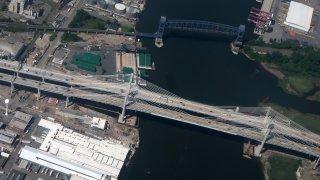 Birds-eye view of Goethals Bridge