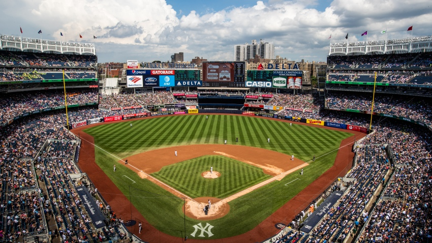 A general view of Yankee Stadium during a day game during a game between the Baltimore Orioles and the New York Yankees at Yankee Stadium on Wednesday August 1, 2018