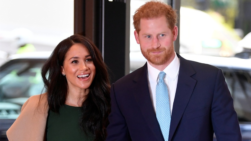 In this file photo, Prince Harry, Duke of Sussex and Meghan, Duchess of Sussex attend the WellChild awards at Royal Lancaster Hotel on October 15, 2019 in London, England.