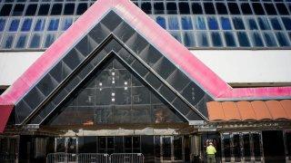 Abandoned Trump Plaza building in Atlantic City