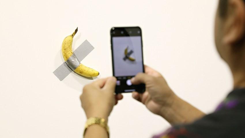 Miami Art Basel Banana Eaten
