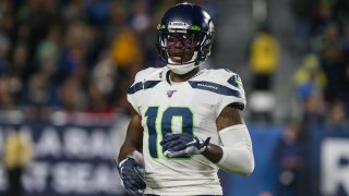 Seattle Seahawks wide receiver Josh Gordon (10) during the NFL game between the Seattle Seahawks and the Los Angeles Rams on Dec. 8, 2019, at the Los Angeles Memorial Coliseum.