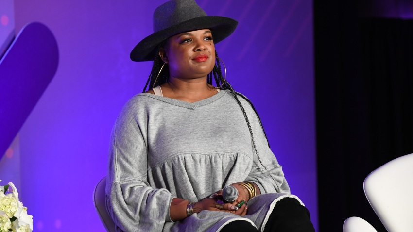 Beatrice Dixon speaks onstage during ESSENCE + New Voices Entrepreneur Summit And Target Holiday Market at West End Production Park on December 15, 2019 in Atlanta, Georgia.