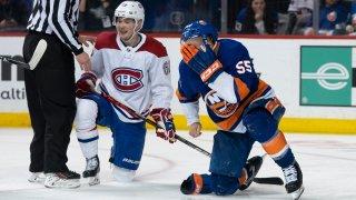 Johnny Boychuk injured on ice