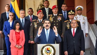 Venezuelan President Nicolas Maduro speaks during a press conference