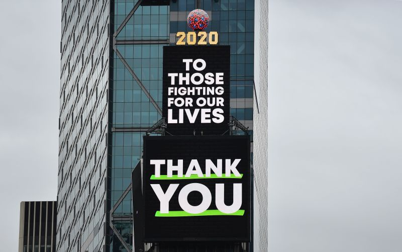 In Photos: Times Square Turns Into a Sea of Gratitude and Hope Thanks to Billboards