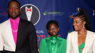 In this March 7, 2020, file photo, (L-R) Dwyane Wade, Zaya Wade and Gabrielle Union attend the Better Brothers Los Angeles 6th annual Truth Awards at Taglyan Complex in Los Angeles, California.