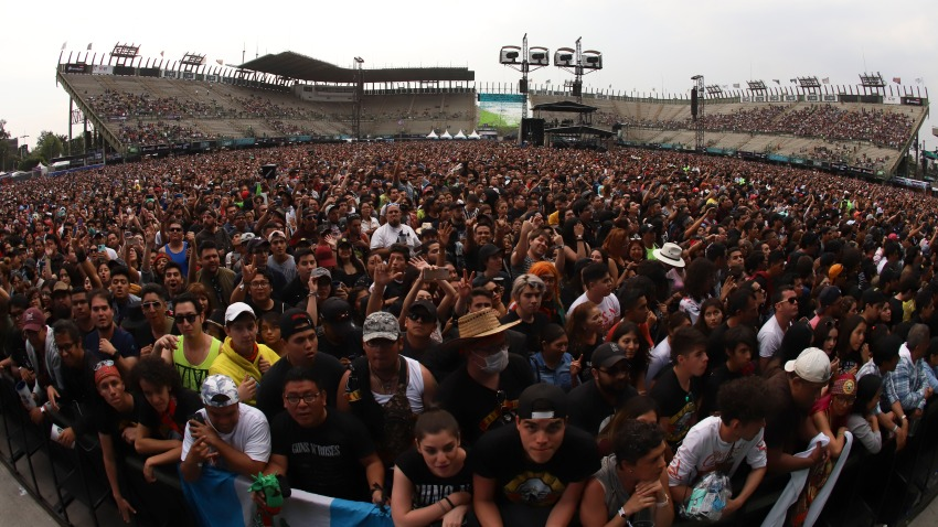 Fans enjoy the atmosphere during the first day of Vive Latino 2020 musical festival