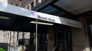 Entrance to Mount Sinai Hospital