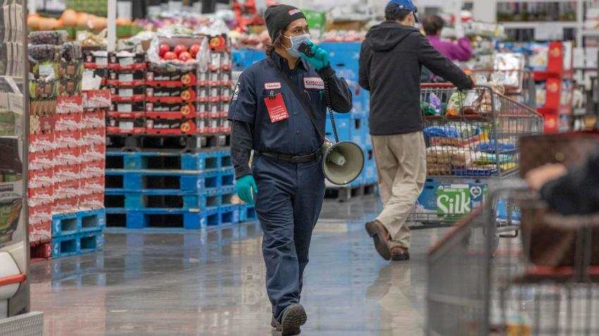 A Costco staff member