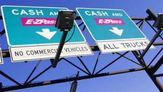 New Jersey Turnpike toll booth signs