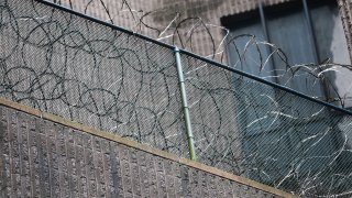 Razor wire sits on a fence at the Metropolitan Correctional Center June 9, 2009 in New York City