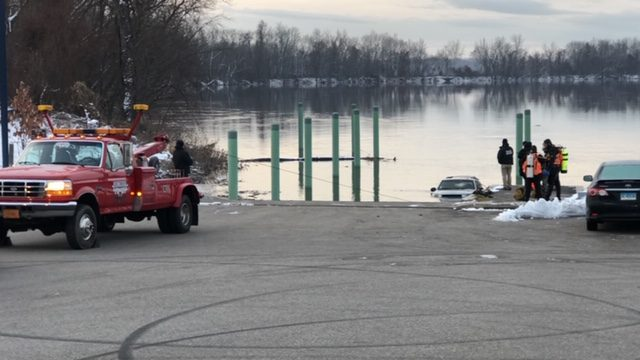 Dog Emerges From Connecticut River After Car Submerges