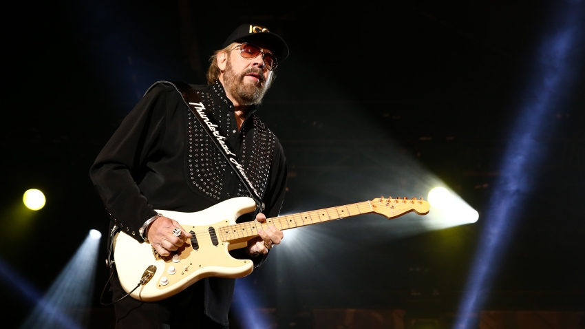 In this April 10, 2015, file photo, Hank Williams Jr. performs at the 5th Annual NRA Country Jam in Nashville, Tennessee.