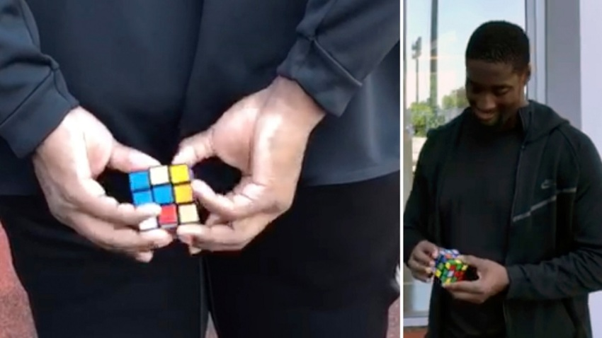 Jets Calvin Anderson Rubiks Cube