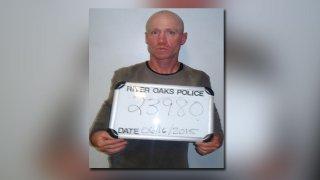 Keith Thomas Kinnunen in a previous mug shot from River Oaks Police Department.