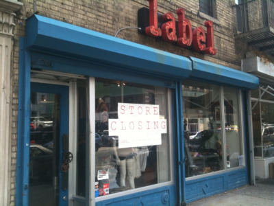 Label Store Closing