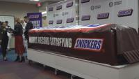 Satisfying: World's Largest Snickers Bar Unveiled in Texas