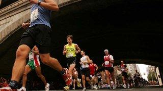 102508 NYC Marathon shot of people running
