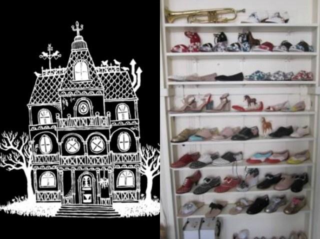 Rachel Antonoff Shoe Wall Split