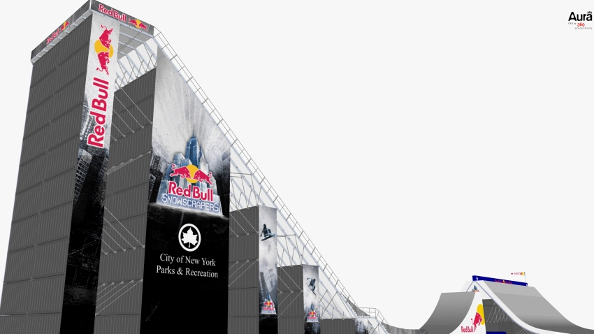 Red Bull Snowscrapers Rendering 3