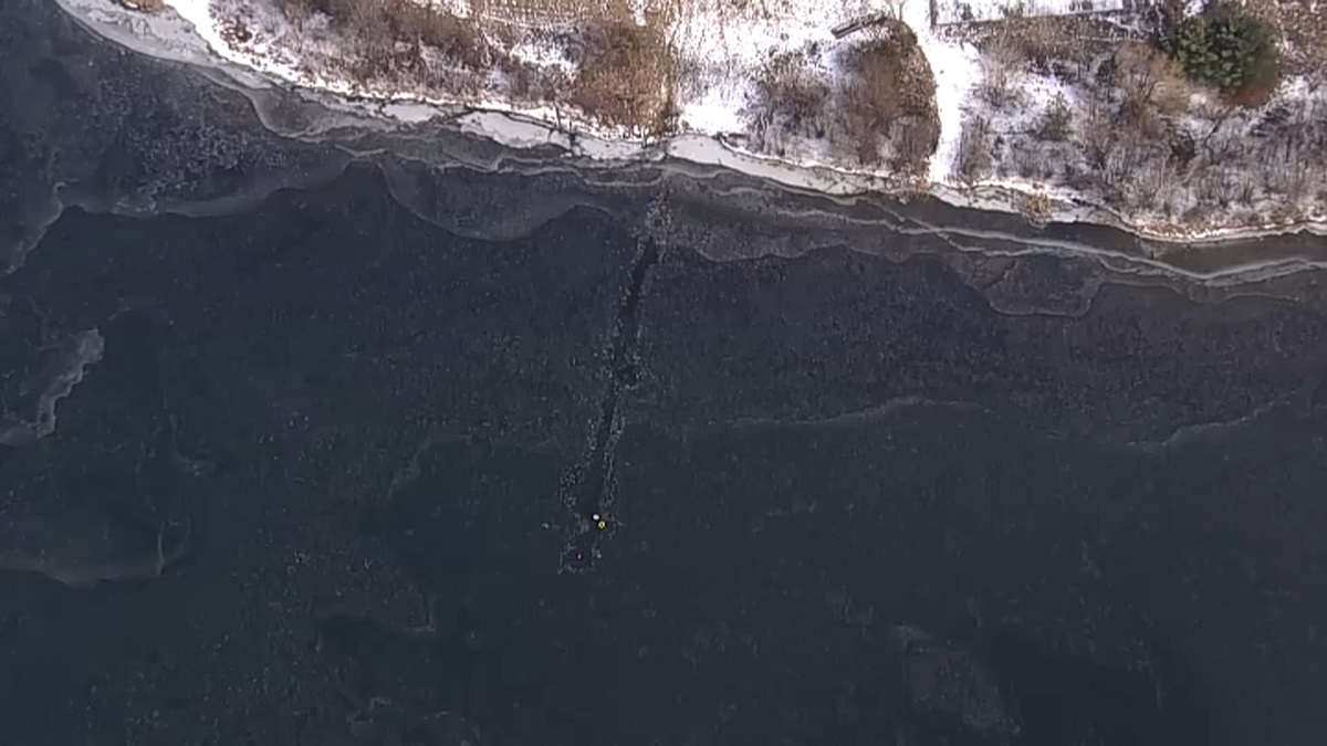 Man Rescued After Falling Through Ice in New Jersey